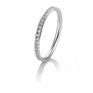 Memoire briljant ring 0.26 ct