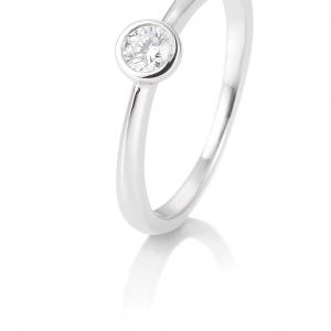 Solitair briljant ring 0.15 ct