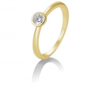 Solitair briljant ring 0.20 ct