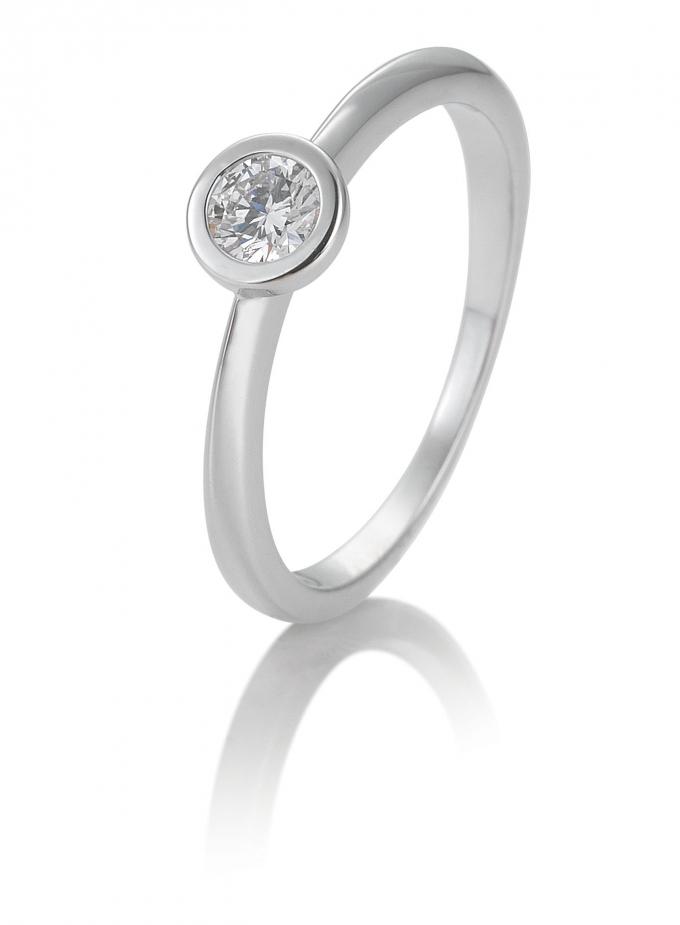 Solitair briljant ring 0.25 ct