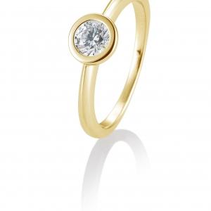 Solitair briljant ring 0.50 ct