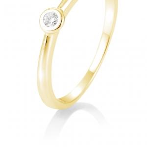 Solitair briljant ring 0.05 ct